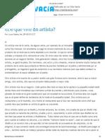 Lucas Ospina_De Qué Vive Un Artista