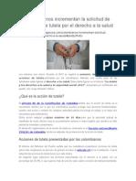 Colombianos Incrementan La Solicitud de Acciones de Tutela Por El Derecho a La Salud