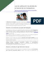 Nuevo Manual de Calificación de Pérdida de Capacidad Laboral de Los Trabajadores