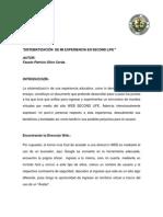 Sistematizacion de La Experiencia en Second Life. Fausto Olivo