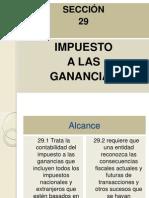 Presentación Seccion 29 Impuesto a Las Ganancias