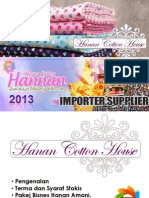 Panduan Lengkap Pakej Bisnes Kain Cotton (Nov 2013)