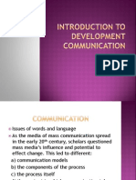 1. Introduction to Development Communication