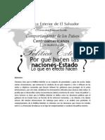 Comportamiento de los Paises Centroamericanos