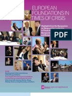 Alliance - December 2009 - European foundations in times of crisis