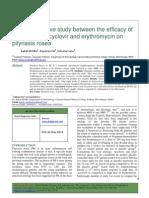 PITYRIASIS 2014 Asiklovir vs Eritromisin