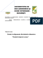 Utilaje Folosite in Industria Alimentara