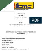 assignment kfc 2044 - networking fundamental