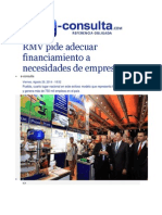 29-08-2014 e-consulta.com - RMV pide adecuar financiamiento a necesidades de empresas.
