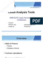 Lease Analysis Tools
