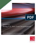 Rating U.S. Auto Lease Securitizations
