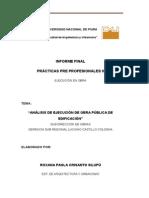 Informe Sub Region Obras