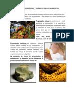 Propiedades Físicas y Químicas de Los Alimentos