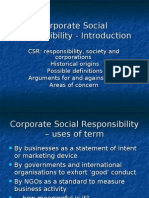 Corporate Social Responsibility - Introduction