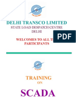 DELHI TRANSCO LIMITED PRESENTATION ON SCADA SYSTEM