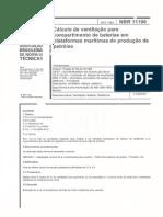 NBR 11106-1989 - Cálculo de Ventilação Para Compartimento de Baterias Em Plataformas Marítimas de Produção de Petróleo