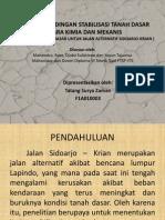 Studi Perbandingan Stabilisasi Tanah Dasar