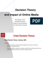 Crisis Decision Theory and Online Media
