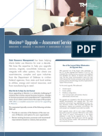 TRM Maximo® Upgrade Assessment Service Brochure