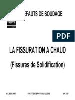La Fissuration a Chaud