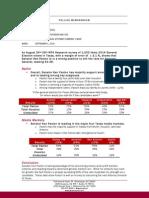 WPA Paxton for Texas Survey Analysis Memo 140901