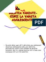 Relatia Parinti-copii La Varsta Adolescentei..