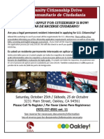 Citizenship Drive October 25th