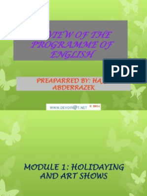 Cours Anglais Summary Of The Program Bac Toutes Sections 2012