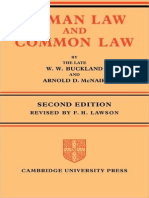 BUCKLAND, W. W. & MCNAIR, Arnold. Roman Law and Common Law - A Comparison in Outline