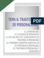Tema 6 Trastornos de Personalidad