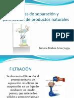 Técnicas de Separación y Purificación de Productos Naturales