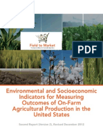 Field to Market® 2012 Environmental and Socioeconomic Indicators Report