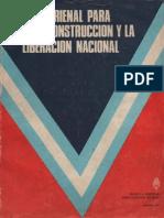 Plan Trienal para la reconstruccion y la liberacion nacional