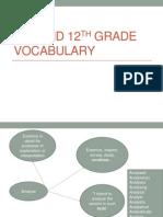 11th and 12th grade vocabulary