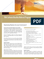 TRM Software Reseller/Referral Program Brochure