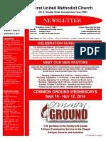 FUMC Newsletter for Sept 3, 2014