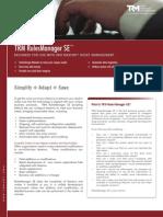 TRM RulesManager SE™ Brochure