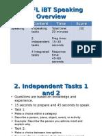 Overview TOEFL IBT Speaking