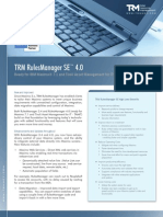 TRM RulesManager SE™ 4.0 Brochure