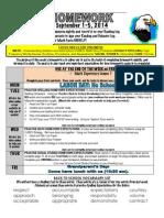 2nd week of school hmwk sept 1-5 2014