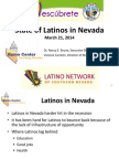 State of Latinos in Nevada - March 21, 2014