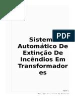 Sistema Autómatico de Incêndio Para Transformador