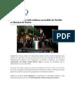 31-08-2014 Foro Político Digital.info - Moreno Valle y Gali realizan encendido de Puebla se ilumina de Patria.