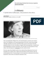 Philippa Foot Obituary _ World News _ the Guardian