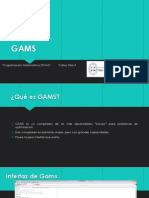Tutorial GAMS