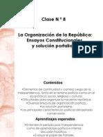 Clase 8 Organizacion de La Republica y Solucion Portaliana
