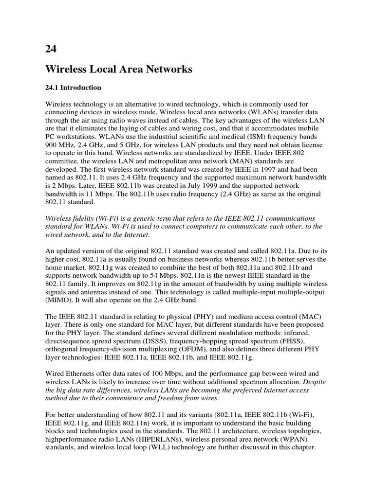 wireless lans | Wireless Lan | Ieee 802.11