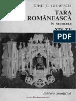 Țara Românească În Secolele XIV-XV , Dinu C. Giurescu