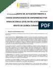 Procedimiento Ebola Guinea