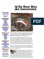 Rear Disk Conversion